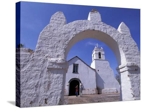 Adobe Walls of La Iglesia de San Pedro de Atacama, San Pedro de Atacama, Chile-Lin Alder-Stretched Canvas Print