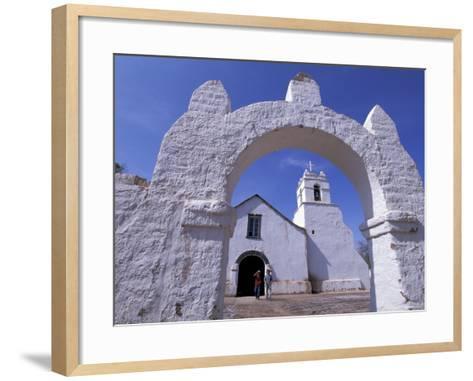 Adobe Walls of La Iglesia de San Pedro de Atacama, San Pedro de Atacama, Chile-Lin Alder-Framed Art Print