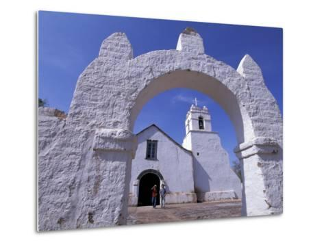 Adobe Walls of La Iglesia de San Pedro de Atacama, San Pedro de Atacama, Chile-Lin Alder-Metal Print