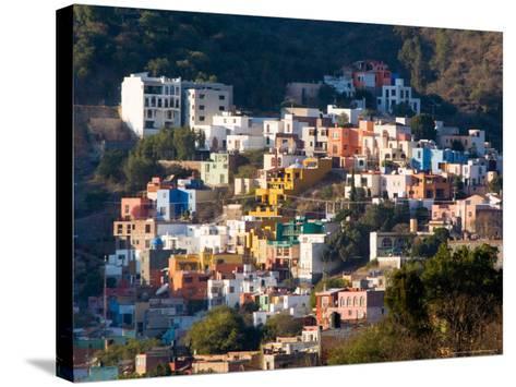 Colorful Hillside Houses, Guanajuato, Mexico-Julie Eggers-Stretched Canvas Print