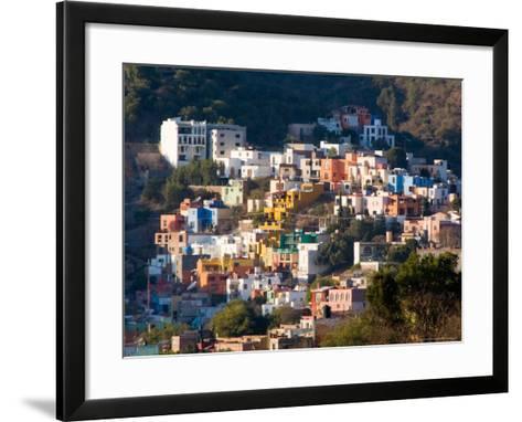 Colorful Hillside Houses, Guanajuato, Mexico-Julie Eggers-Framed Art Print
