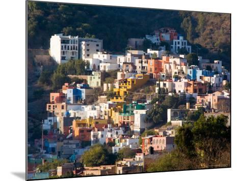 Colorful Hillside Houses, Guanajuato, Mexico-Julie Eggers-Mounted Photographic Print