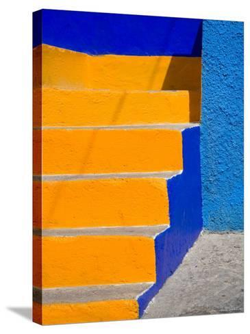 Colorful Stairs, Guanajuato, Mexico-Julie Eggers-Stretched Canvas Print
