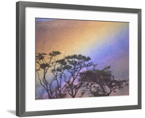 Rainbow over Rural Valley, Guacimal, Costa Rica-Michele Westmorland-Framed Art Print