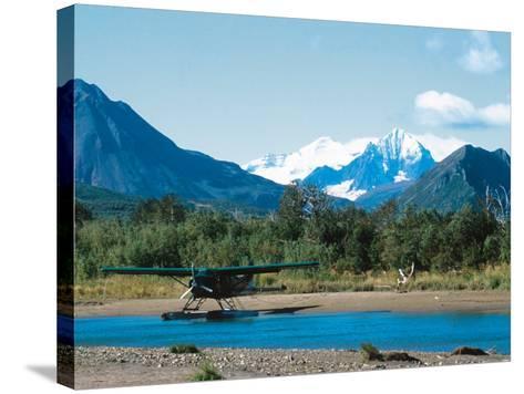 Float Plan on Salmon Stream, Katmai National Park, Alaska, USA-Dee Ann Pederson-Stretched Canvas Print