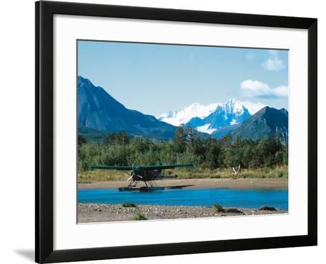 Float Plan on Salmon Stream, Katmai National Park, Alaska, USA-Dee Ann Pederson-Framed Art Print