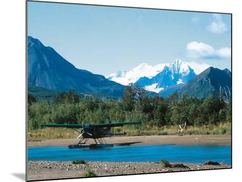 Float Plan on Salmon Stream, Katmai National Park, Alaska, USA-Dee Ann Pederson-Mounted Photographic Print