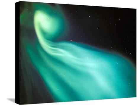 Curtains of Green Aurora in the Northern Sky, Arctic Coastal Plain, Alaska, USA-Hugh Rose-Stretched Canvas Print
