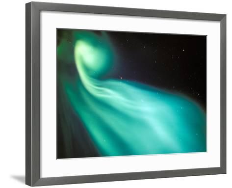 Curtains of Green Aurora in the Northern Sky, Arctic Coastal Plain, Alaska, USA-Hugh Rose-Framed Art Print