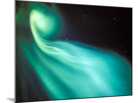 Curtains of Green Aurora in the Northern Sky, Arctic Coastal Plain, Alaska, USA-Hugh Rose-Mounted Photographic Print