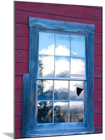 Reflection of the Wrangell Mountains in Copper Mine Window, Kennicott, Alaska, USA-Julie Eggers-Mounted Photographic Print