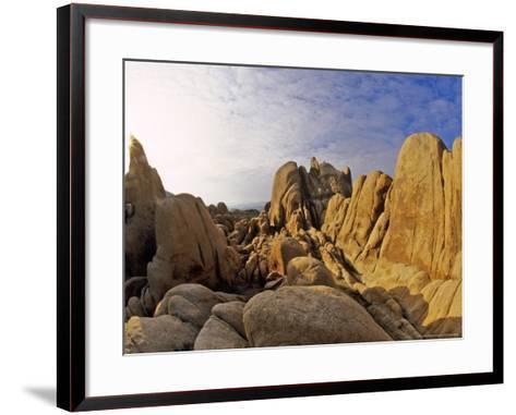 Jumbled Rocks, Joshua Tree National Park, California, USA-Chuck Haney-Framed Art Print