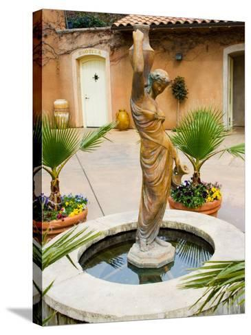 Statue of Goddess at Viansa Winery, Sonoma Valley, California, USA-Julie Eggers-Stretched Canvas Print
