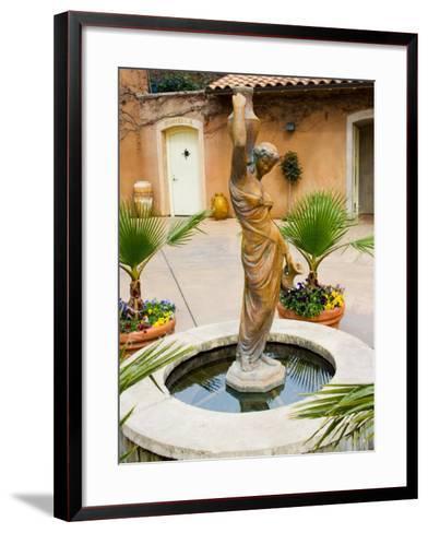 Statue of Goddess at Viansa Winery, Sonoma Valley, California, USA-Julie Eggers-Framed Art Print