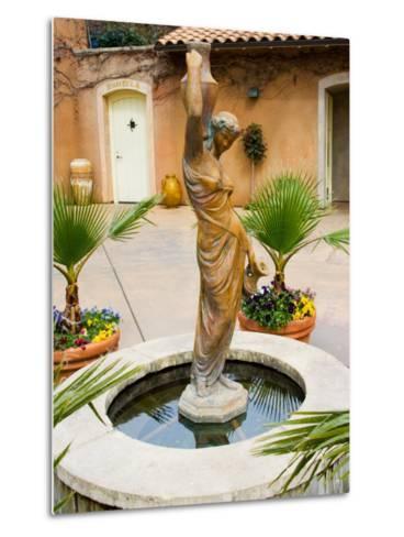 Statue of Goddess at Viansa Winery, Sonoma Valley, California, USA-Julie Eggers-Metal Print