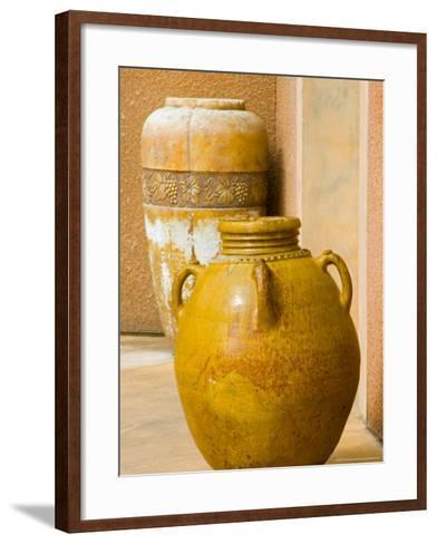 Pots on Display at Viansa Winery, Sonoma Valley, California, USA-Julie Eggers-Framed Art Print