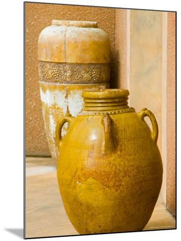 Pots on Display at Viansa Winery, Sonoma Valley, California, USA-Julie Eggers-Mounted Photographic Print