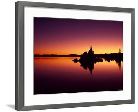 Tufa Towers Reflect in Mono Lake, California, USA-Jerry Ginsberg-Framed Art Print
