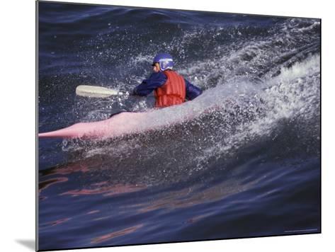 Kayak Surfing, Santa Cruz, California, USA-Stuart Westmoreland-Mounted Photographic Print