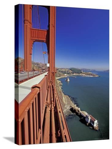 View North from Golden Gate Bridge, San Francisco, California, USA-William Sutton-Stretched Canvas Print