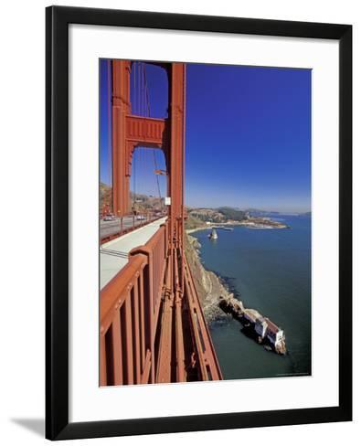 View North from Golden Gate Bridge, San Francisco, California, USA-William Sutton-Framed Art Print