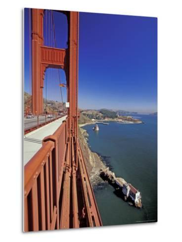 View North from Golden Gate Bridge, San Francisco, California, USA-William Sutton-Metal Print