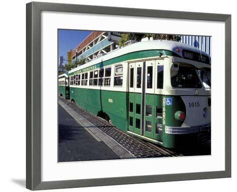 Electric Trolleys, Fisherman's Wharf, San Francisco, California, USA-William Sutton-Framed Art Print