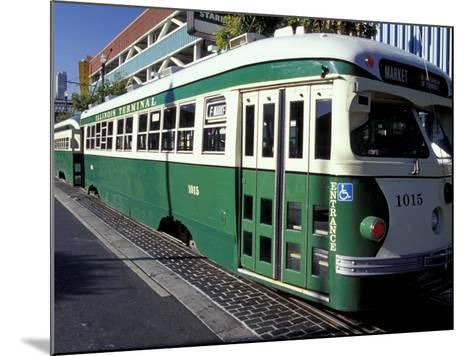 Electric Trolleys, Fisherman's Wharf, San Francisco, California, USA-William Sutton-Mounted Photographic Print