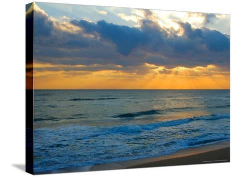 Sunrise, Silver Sands, Canaveral National Seashore, Florida-Lisa S^ Engelbrecht-Stretched Canvas Print