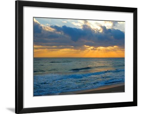 Sunrise, Silver Sands, Canaveral National Seashore, Florida-Lisa S^ Engelbrecht-Framed Art Print