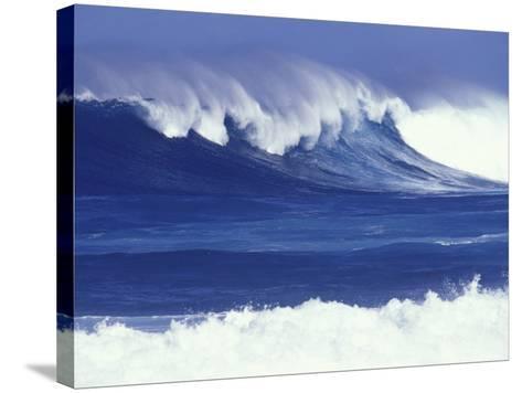 Waves off Kulima Point, Northshore, Oahu, Hawaii, USA-Darrell Gulin-Stretched Canvas Print