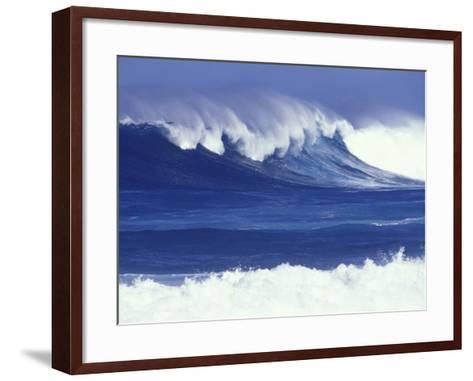 Waves off Kulima Point, Northshore, Oahu, Hawaii, USA-Darrell Gulin-Framed Art Print