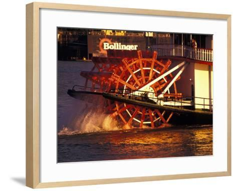 Couple Enjoying Sunset on Mississippi River, New Orleans, Louisiana, USA-Adam Jones-Framed Art Print
