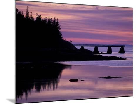Duck Harbor at Sunset, Isle Au Haut, Maine, USA-Jerry & Marcy Monkman-Mounted Photographic Print
