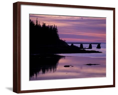 Duck Harbor at Sunset, Isle Au Haut, Maine, USA-Jerry & Marcy Monkman-Framed Art Print
