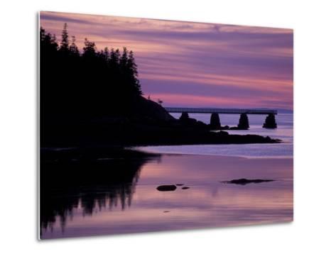 Duck Harbor at Sunset, Isle Au Haut, Maine, USA-Jerry & Marcy Monkman-Metal Print