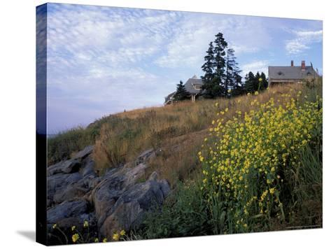 Houses, Maine, USA-Jerry & Marcy Monkman-Stretched Canvas Print