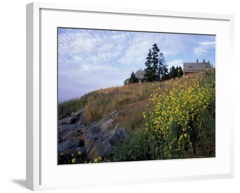 Houses, Maine, USA-Jerry & Marcy Monkman-Framed Art Print