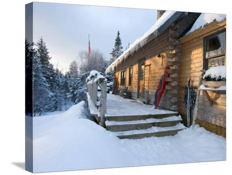 Main Lodge of the AMC's Little Lyford Pond Camps, Northern Forest, Maine, USA-Jerry & Marcy Monkman-Stretched Canvas Print