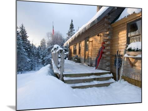 Main Lodge of the AMC's Little Lyford Pond Camps, Northern Forest, Maine, USA-Jerry & Marcy Monkman-Mounted Photographic Print