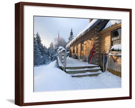 Main Lodge of the AMC's Little Lyford Pond Camps, Northern Forest, Maine, USA-Jerry & Marcy Monkman-Framed Art Print