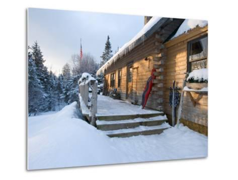 Main Lodge of the AMC's Little Lyford Pond Camps, Northern Forest, Maine, USA-Jerry & Marcy Monkman-Metal Print