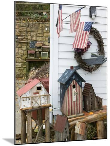 Patriotic Birdhouses, USA-Walter Bibikow-Mounted Photographic Print