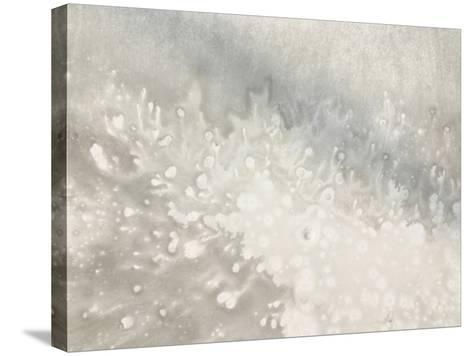 Close-up of Blotchy Gray Texture--Stretched Canvas Print