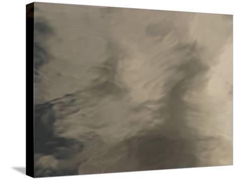 The Surface of Smooth Water with Rippling Shadows--Stretched Canvas Print