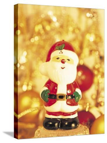 Close-up of a Santa Claus Figurine--Stretched Canvas Print