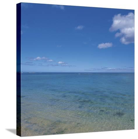Blue Ocean Water to the Horizon--Stretched Canvas Print