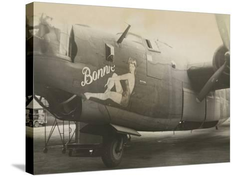Nose Art on a B24 Liberator, c.1945--Stretched Canvas Print
