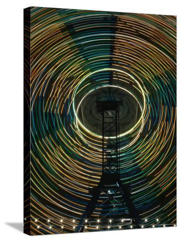 Lights of the Ferris-Wheel at the Royal Melbourne Agricultural Show, Melbourne,Victoria, Australia-Dallas Stribley-Stretched Canvas Print