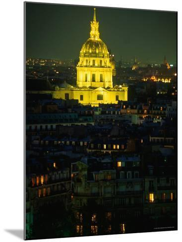 Napoleon's Tomb, in Eglise Du Dome of Hotel Des Invalides, at Night Paris, France-John Hay-Mounted Photographic Print